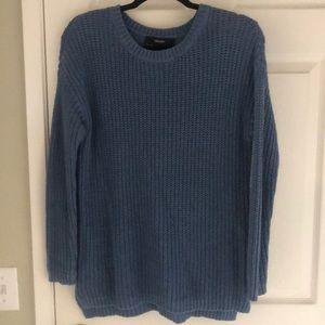 Blue Scoop Neck Sweater